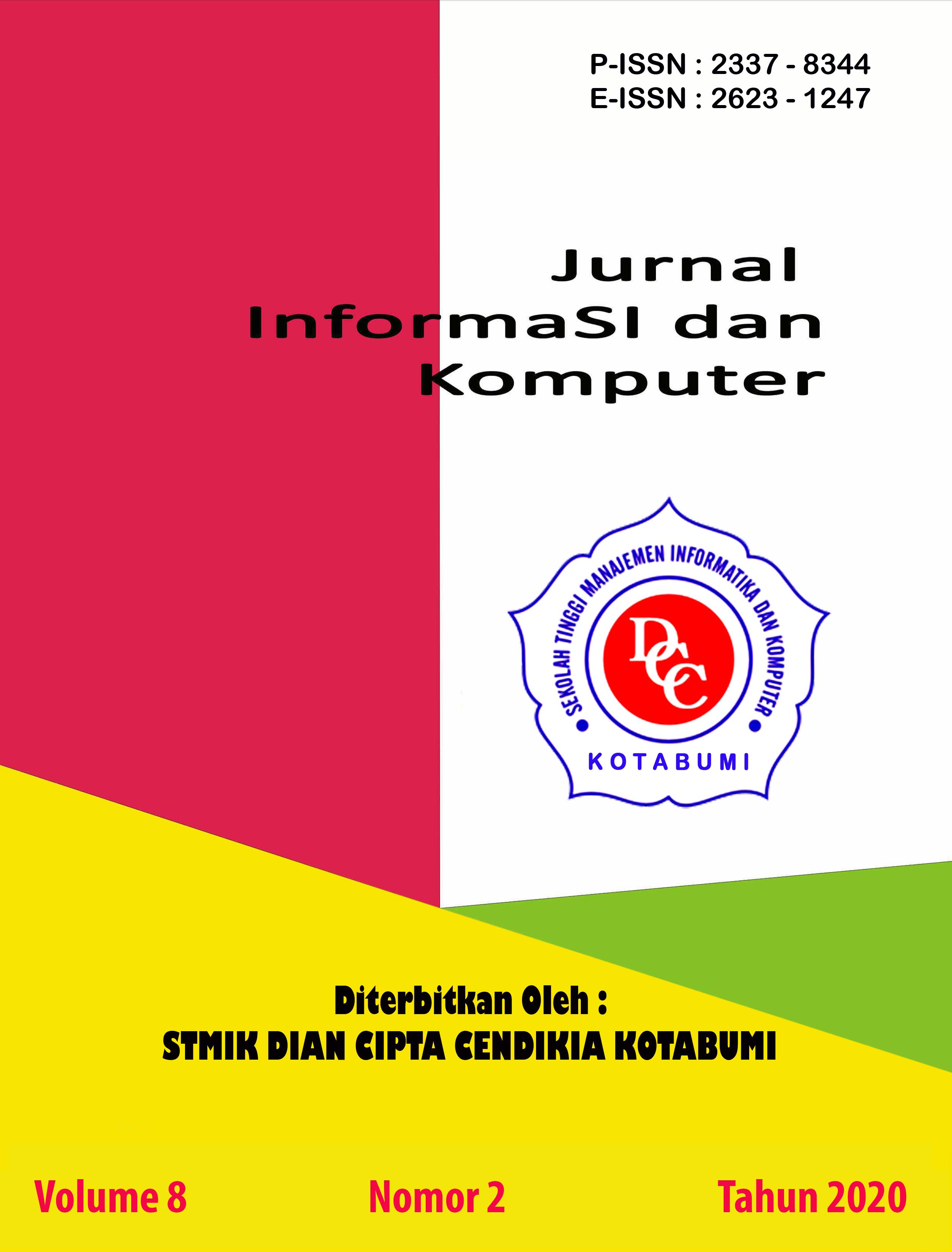 Jurnal Sistem Informasi dan Komputer yang terbit pada tahun 2020 pada bulan 10